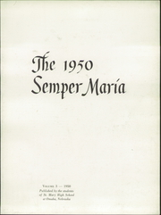 Page 5, 1950 Edition, St Mary High School - Semper Maria Yearbook (Omaha, NE) online yearbook collection