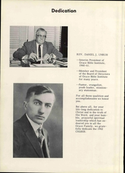 Page 6, 1962 Edition, Grace University - Charis Yearbook (Omaha, NE) online yearbook collection