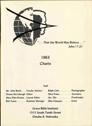 Page 5, 1963 Edition, Grace University - Charis Yearbook (Omaha, NE) online yearbook collection