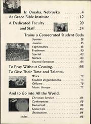 Page 7, 1963 Edition, Grace University - Charis Yearbook (Omaha, NE) online yearbook collection