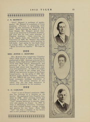 Page 11, 1912 Edition, Doane College - Tiger Yearbook (Crete, NE) online yearbook collection