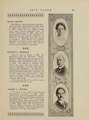 Page 13, 1912 Edition, Doane College - Tiger Yearbook (Crete, NE) online yearbook collection