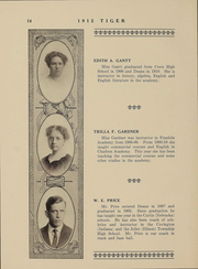 Page 14, 1912 Edition, Doane College - Tiger Yearbook (Crete, NE) online yearbook collection