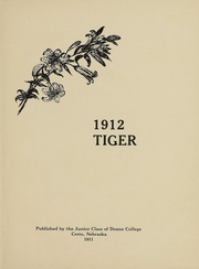 Page 3, 1912 Edition, Doane College - Tiger Yearbook (Crete, NE) online yearbook collection