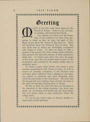 Page 8, 1912 Edition, Doane College - Tiger Yearbook (Crete, NE) online yearbook collection