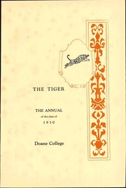 Page 9, 1929 Edition, Doane College - Tiger Yearbook (Crete, NE) online yearbook collection