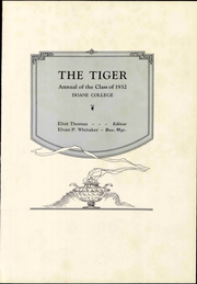 Page 7, 1931 Edition, Doane College - Tiger Yearbook (Crete, NE) online yearbook collection