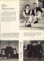 Page 15, 1952 Edition, Doane College - Tiger Yearbook (Crete, NE) online yearbook collection