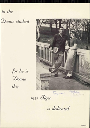Page 9, 1952 Edition, Doane College - Tiger Yearbook (Crete, NE) online yearbook collection