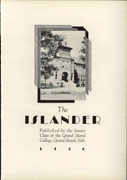 Page 11, 1930 Edition, Grand Island College - Islander Yearbook (Grand Island, NE) online yearbook collection