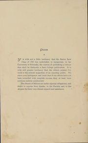 Page 11, 1897 Edition, University of Nebraska College of Law - Yearbook (Lincoln, NE) online yearbook collection
