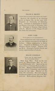 Page 13, 1897 Edition, University of Nebraska College of Law - Yearbook (Lincoln, NE) online yearbook collection