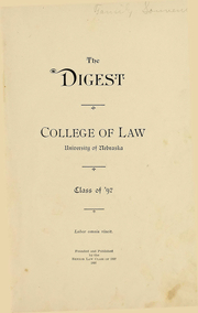 Page 8, 1897 Edition, University of Nebraska College of Law - Yearbook (Lincoln, NE) online yearbook collection