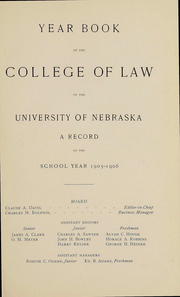 Page 5, 1904 Edition, University of Nebraska College of Law - Yearbook (Lincoln, NE) online yearbook collection