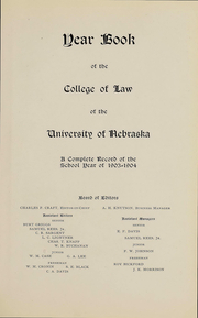 Page 6, 1906 Edition, University of Nebraska College of Law - Yearbook (Lincoln, NE) online yearbook collection
