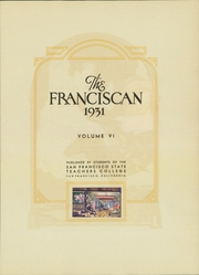 Page 11, 1931 Edition, San Francisco State University - Franciscan Yearbook (San Francisco, CA) online yearbook collection