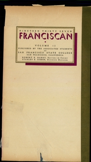 Page 3, 1937 Edition, San Francisco State University - Franciscan Yearbook (San Francisco, CA) online yearbook collection