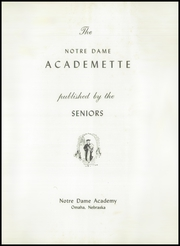 Page 5, 1952 Edition, Notre Dame Academy - Academette Yearbook (Omaha, NE) online yearbook collection