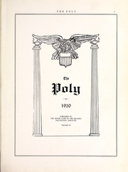 Page 5, 1920 Edition, Rocky Mountain College - Yellowstone / Poly Yearbook (Billings, MT) online yearbook collection