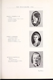 Page 17, 1926 Edition, Rocky Mountain College - Poly Yearbook (Billings, MT) online yearbook collection