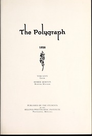 Page 5, 1926 Edition, Rocky Mountain College - Poly Yearbook (Billings, MT) online yearbook collection