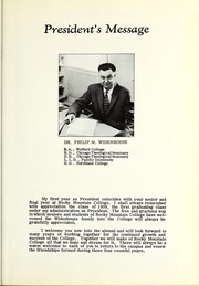 Page 11, 1959 Edition, Rocky Mountain College - Yellowstone / Poly Yearbook (Billings, MT) online yearbook collection