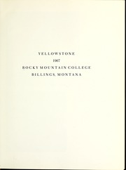 Page 5, 1967 Edition, Rocky Mountain College - Poly Yearbook (Billings, MT) online yearbook collection