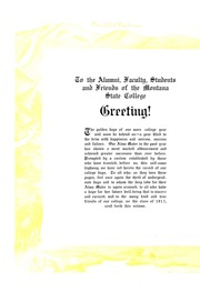 Page 6, 1913 Edition, Montana State University Bozeman - Montanan Yearbook (Bozeman, MT) online yearbook collection
