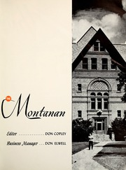 Page 5, 1952 Edition, Montana State University Bozeman - Montanan Yearbook (Bozeman, MT) online yearbook collection