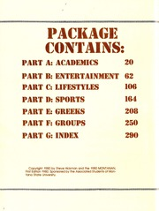 Page 4, 1980 Edition, Montana State University Bozeman - Montanan Yearbook (Bozeman, MT) online yearbook collection