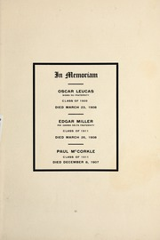 Page 17, 1908 Edition, DePauw University - Mirage Yearbook (Greencastle, IN) online yearbook collection
