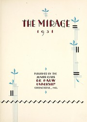 Page 9, 1931 Edition, DePauw University - Mirage Yearbook (Greencastle, IN) online yearbook collection