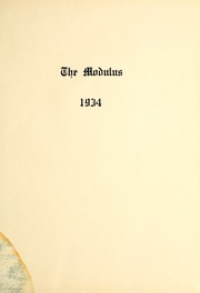Page 5, 1934 Edition, Trine University - Modulus Yearbook (Angola, IN) online yearbook collection