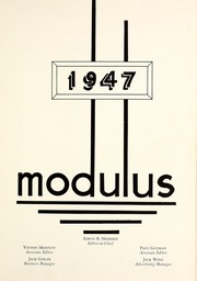 Page 5, 1947 Edition, Trine University - Modulus Yearbook (Angola, IN) online yearbook collection