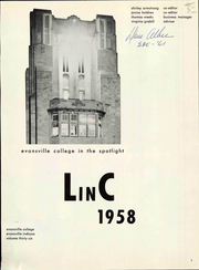 Page 7, 1958 Edition, University of Evansville - Linc Yearbook (Evansville, IN) online yearbook collection