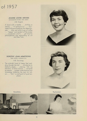 Page 16, 1957 Edition, Hood College - Touchstone Yearbook (Frederick, MD) online yearbook collection