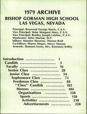 Page 5, 1979 Edition, Bishop Gorman High School - Archive Yearbook (Las Vegas, NV) online yearbook collection