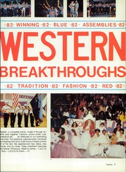 Page 9, 1982 Edition, Western High School - Epitaph Yearbook (Las Vegas, NV) online yearbook collection