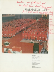 Page 5, 1974 Edition, Valley High School - Valhalla Yearbook (Las Vegas, NV) online yearbook collection