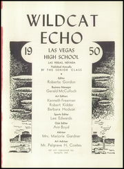 Page 5, 1950 Edition, Las Vegas High School - Echo Yearbook (Las Vegas, NV) online yearbook collection