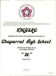 Page 5, 1976 Edition, Chaparral High School - Vaquero Yearbook (Las Vegas, NV) online yearbook collection