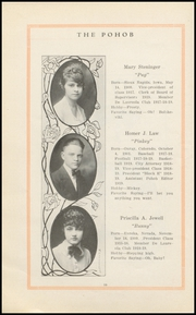 Page 12, 1919 Edition, Elko High School - Pohob Yearbook (Elko, NV) online yearbook collection