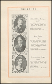 Page 16, 1919 Edition, Elko High School - Pohob Yearbook (Elko, NV) online yearbook collection