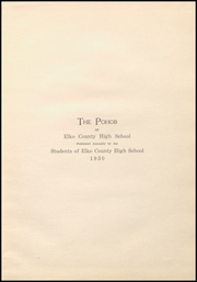 Page 7, 1930 Edition, Elko High School - Pohob Yearbook (Elko, NV) online yearbook collection