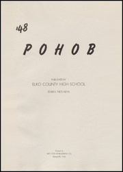 Page 5, 1948 Edition, Elko High School - Pohob Yearbook (Elko, NV) online yearbook collection