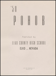 Page 5, 1950 Edition, Elko High School - Pohob Yearbook (Elko, NV) online yearbook collection