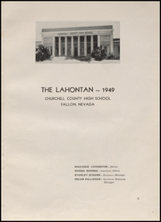 Page 7, 1949 Edition, Churchill County High School - Lahontan Yearbook (Fallon, NV) online yearbook collection