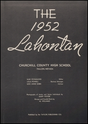 Page 7, 1952 Edition, Churchill County High School - Lahontan Yearbook (Fallon, NV) online yearbook collection