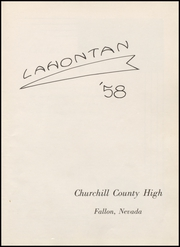 Page 5, 1958 Edition, Churchill County High School - Lahontan Yearbook (Fallon, NV) online yearbook collection