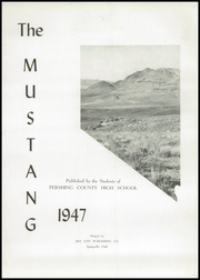 Page 5, 1947 Edition, Pershing County High School - Mustang Yearbook (Lovelock, NV) online yearbook collection
